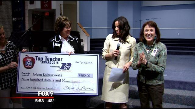 Fox 9 Top Teacher Joleen Kubiszewski