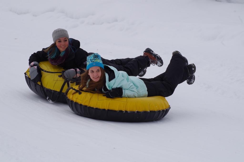 It's not all work...fun in the snow in Iron Mountain, MI.